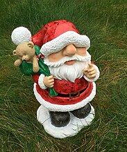 Weihnachtsmann mit Glitzer Figur Dekofigur klein Weihnachten