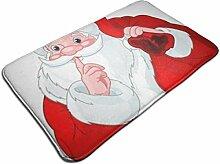 Weihnachtsmann mit Sack Print Türmatte Badematte