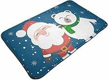 Weihnachtsmann mit weißer Pinguin-Print-Fußmatte