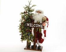 Weihnachtsmann Nat.108H C/Weihnachtsbaum + Lichterkette