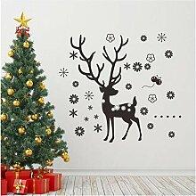 Weihnachtsmann Rentiere Aufkleber Tiere Zimmer