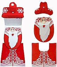 Weihnachtsmann/Schneemann Badezimmer Set