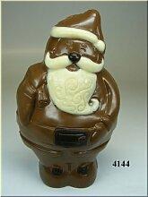 Weihnachtsmann Schokolade Dekoattrappe - Lebensmittelattrappe, Weihnachtsgeschenk, Nikolausgeschenk Geschenkidee zu Weihnachten, Schokoladen Nikolaus aus Kunststoff