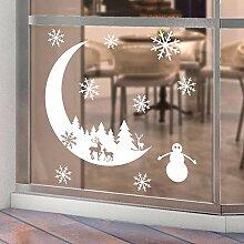 Weihnachtsmann Wandaufkleber Fenster