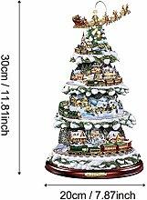 Weihnachtsmann Weihnachtsbaum Rotating Skulptur