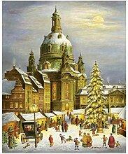 Weihnachtspostkarte Dresdner Frauenkirche