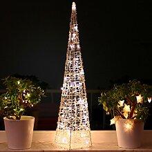 Weihnachtspyramide 90cm LED Pyramide Warmweiß