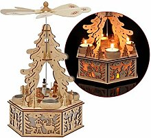 Weihnachtspyramide mit LED Beleuchtung für 4