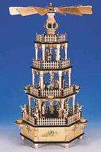 Weihnachtspyramide mit Spielwerk, natur, Figuren