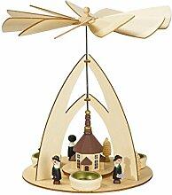 Weihnachtspyramide Pyramide mit Seiffener Kirche