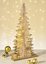 Weihnachtspyramide Tannenbaum LED Holz