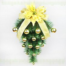 Weihnachtsschmuck 60CM Weihnachtsbaum Wand Fenster Und Türen Anhänger Christmas Ball Dekoration,4-OneSize