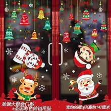 Weihnachtsschmuck Aufkleber Tür Aufkleber Fenster