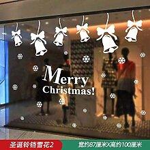 Weihnachtsschmuck Dekoration Glasaufkleber