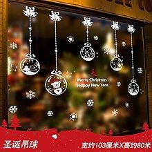 Weihnachtsschmuck, Glasaufkleber,