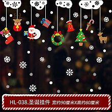 Weihnachtsschmuck, Glastüren, Fensteraufkleber,
