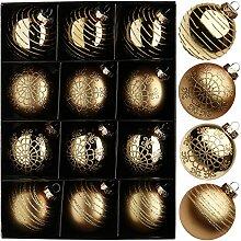 Weihnachtsschmuck Kugel 7,5 cm Gold