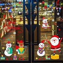 Weihnachtsschmuck Santa Schneemann Tür Aufkleber
