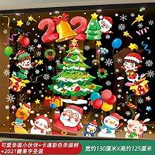 Weihnachtsschmuck Santa Tree Glastür