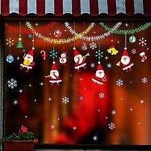 Weihnachtsschmuck, Szenenlayout, Fensteraufkleber,