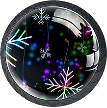 Weihnachtsschneeflocken färben, 4Pack ABS Kommode