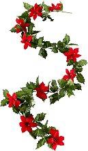 Weihnachtsstern-Girlande, rot