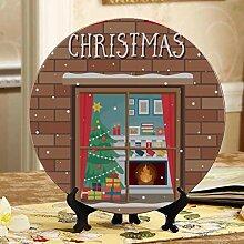 Weihnachtsszene Kamin Moderne Keramikplatten