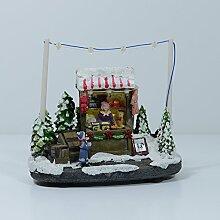 """Weihnachtsszene """"Verkaufsstand Spielwaren"""" mit 7 LED's, 13 cm hoch"""