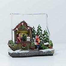 """Weihnachtsszene """"Verkaufsstand Weihnachtsbaum"""" mit 7 LED's, 13 cm hoch"""