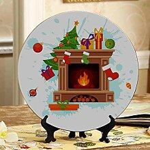 Weihnachtsszenen-Kamin-Anzeige für