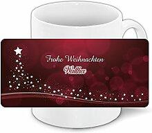 Weihnachtstasse mit Namen Walther und edlem Motiv