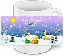 Weihnachtstasse mit Namen Wilma und schönem