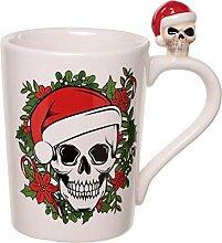 Weihnachtstasse Skull mit Totenkopf auf Henkel 300