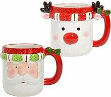Weihnachtstasse Weihnachtsbecher mit Gesicht - 350