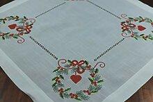 Weihnachtstischdecke 85x85 in Leinenoptik