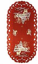 Weihnachtstischdecke-Accessoires – oval 70 cm