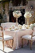 Weihnachtstischdecke mit glitzernden Pailletten, auch für Hochzeiten geeignet, in verschiedenen Farben und Größen verfügbar, Sonstige, trlyc champagne, 60''x102''
