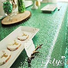 Weihnachtstischdecke mit glitzernden Pailletten,
