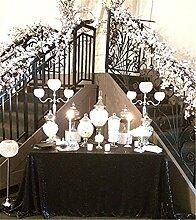 Weihnachtstischdecke mit glitzernden Pailletten, auch für Hochzeiten geeignet, in verschiedenen Farben und Größen verfügbar, Sonstige, trlyc black, 60''x102''