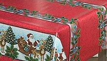 Weihnachtstischdecke mit klassischem Motiv, von