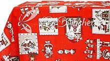 Weihnachtstischdecke mit Weihnachtsmann-Motiv, in