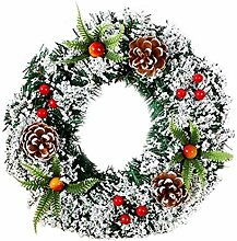 Weihnachtstür hängende Kranz Rattantür