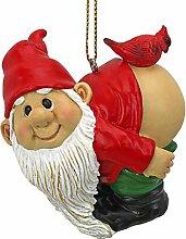 Weihnachtsverzierung - Gartenzwerge Figur - Loonie Moonie Gnome - Frech Zwerge - Mooning Zwerge Statuen