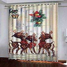 Weihnachtsvorhang,3D Druck Reindeer Glocken
