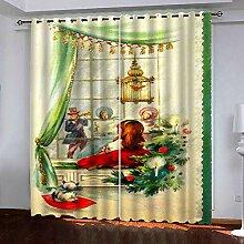 Weihnachtsvorhang,3D-Druck Singenmann Baumwolle