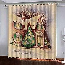 Weihnachtsvorhang,3D Druck Weihnachtsbaum Haus