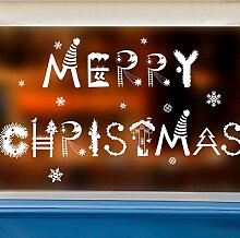 Weihnachtswandaufkleber, Layout, Einkaufszentren,