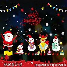Weihnachtswandaufkleber, Schaufenster,