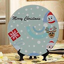 Weihnachtszeichentrickfilm-figuren Bunte Platten