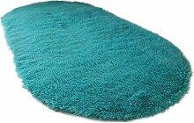 WEIJUN SHOP Einfarbige ovale Teppich, Moderne